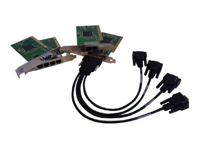 Perle Speed4 LE 4-Port Low Profile Controller RJ45 PCI Serial with Bracket, 04003070, 6355005, Controller Cards & I/O Boards