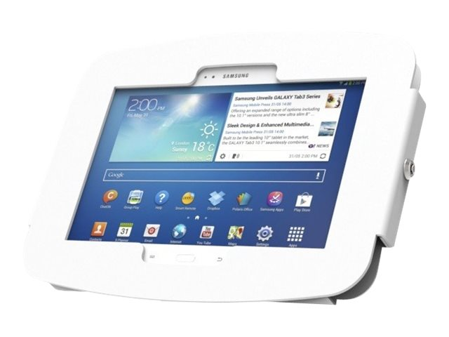 Compulocks Space Enclosure Wall Mount for Galaxy Tab 3, White, 470GEW