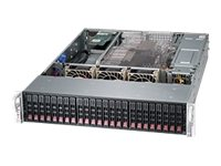 Supermicro SuperChassis 216BE16 2U RM (2x)Intel AMD Family 24x2.5 SAS SATA Bays 7xExpansion Slots 1280W RPS, CSE-216BE16-R1K28WB, 15236876, Cases - Systems/Servers