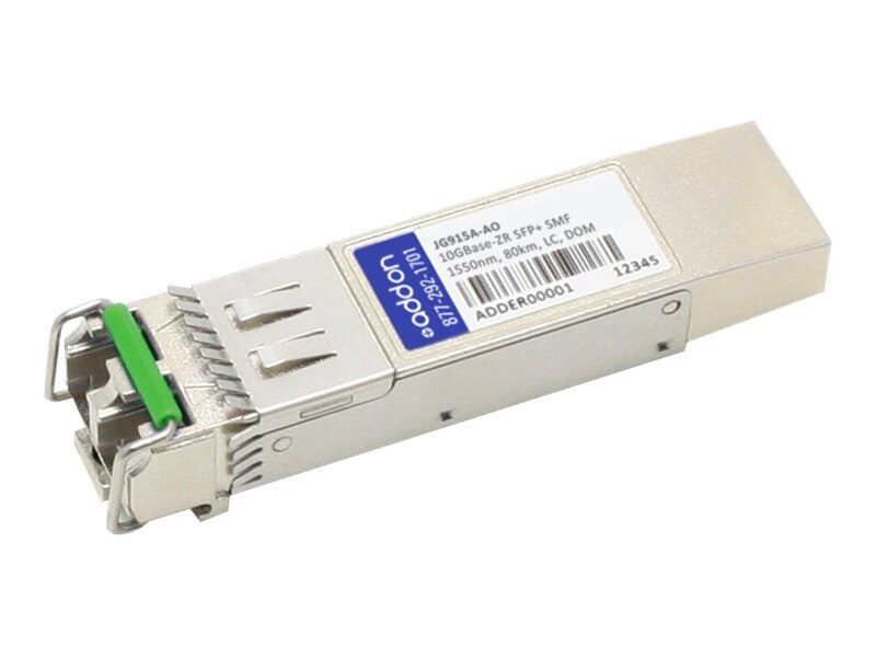 ACP-EP SFP+ 80KM ZR LC XCVR JG915A TAA XCVR 10-GIG ZR DOM LC Transceiver for HP