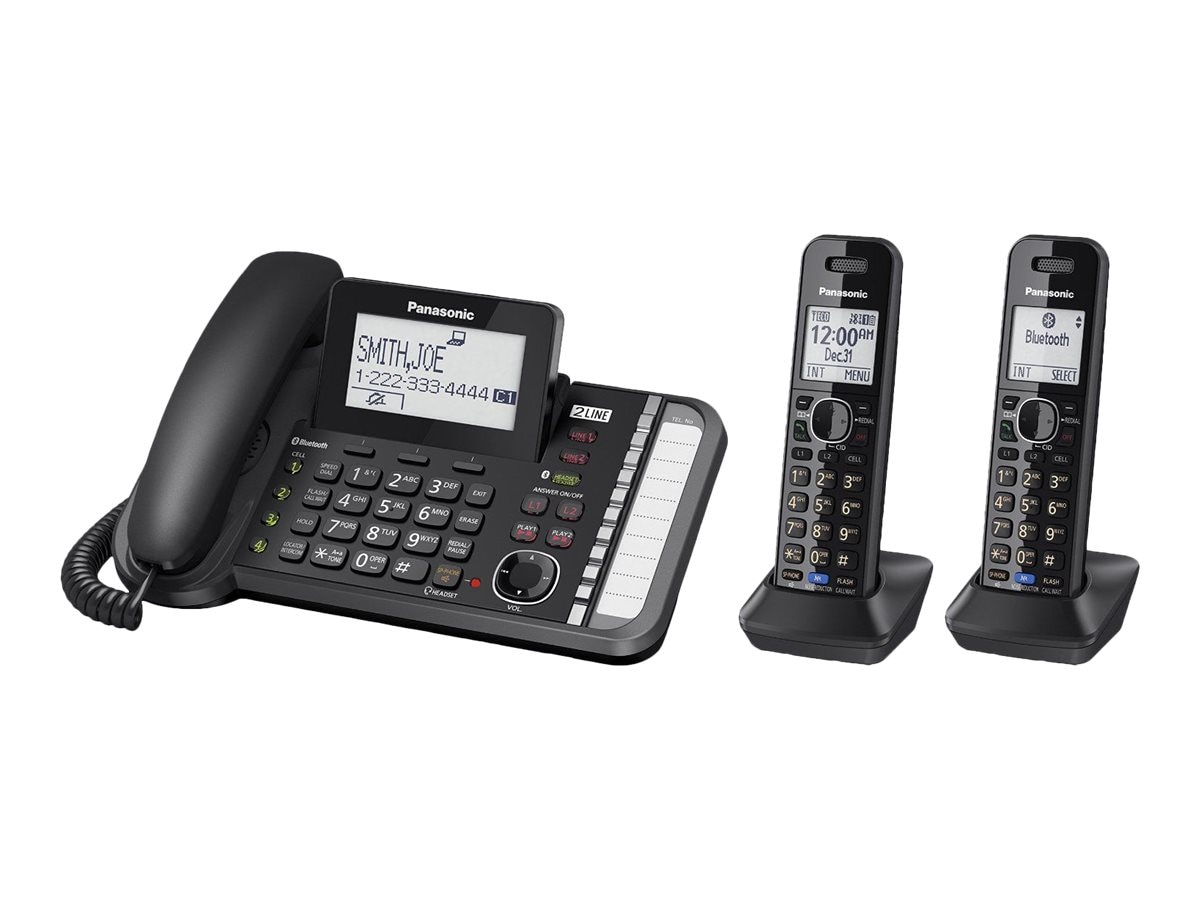 Panasonic Link2Cell DECT_6.0 2-Handset 2-Line Phone