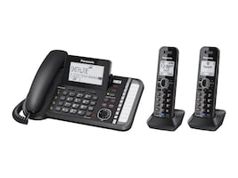Panasonic Link2Cell DECT_6.0 2-Handset 2-Line Phone, KX-TG9582B, 20275845, Telephones - Consumer