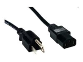 Comprehensive PC Power Cord Standard Series, Black, 1ft, PWC-BK-1, 14774357, Power Cords
