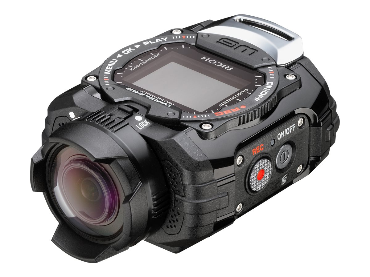 Pentax WG-M1 Waterproof Shockproof Digital Camera, 14MP, Black with Ultra Wide Angle Lens, 08273, 17825631, Cameras - Digital - Point & Shoot
