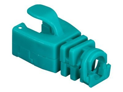 Black Box Snap-On Patch Cable Boot, Green, 50-Pack