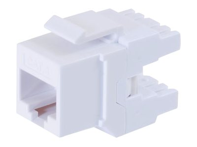 C2G Cat6 180-Degree Keystone Jack, White