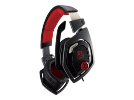 Thermaltake TT ESPORTS Shock 3D 7.1 Surround Sound Gaming Headset, HT-RSO-DIECBK-13, 31024961, Headsets (w/ microphone)