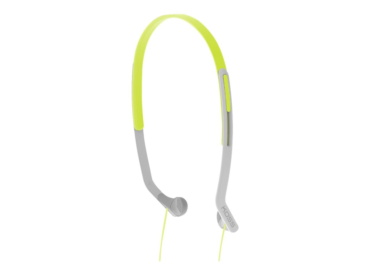 Koss Lighweight Adjustable Sweat Resistant Side-Firing Headphones - Green, KPH14G, 21897021, Headphones