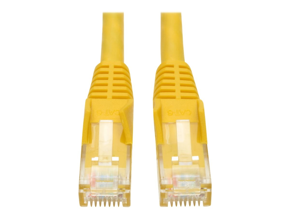 Tripp Lite Cat6 Snagless Patch Cable, Molded, Yellow, 1ft, N201-001-YW
