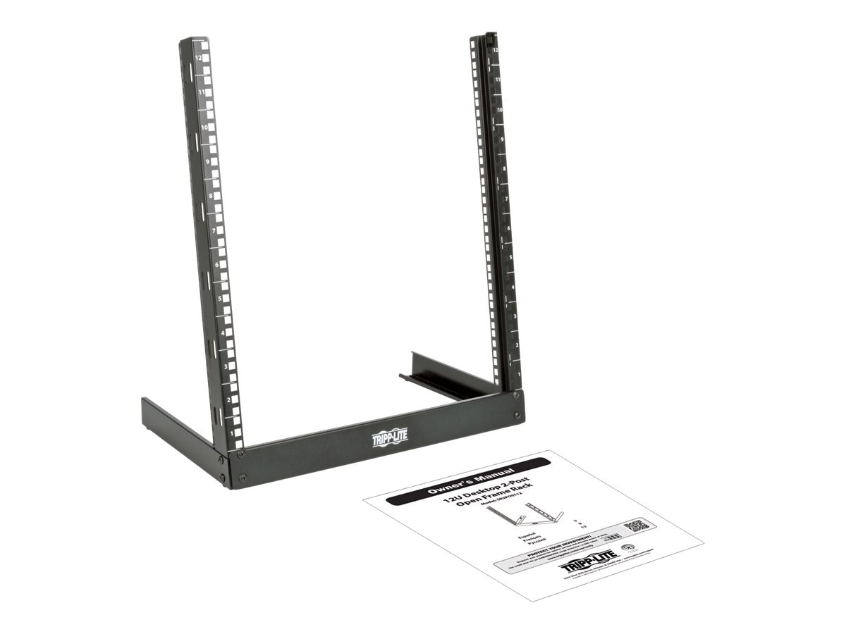 Tripp Lite SmartRack 12U Desktop 2-Post Open-Frame Rack, SR2POST12