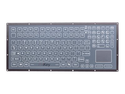 iKEY Rugged OEM Membrane Keyboard, Integrated Touchpad, USB