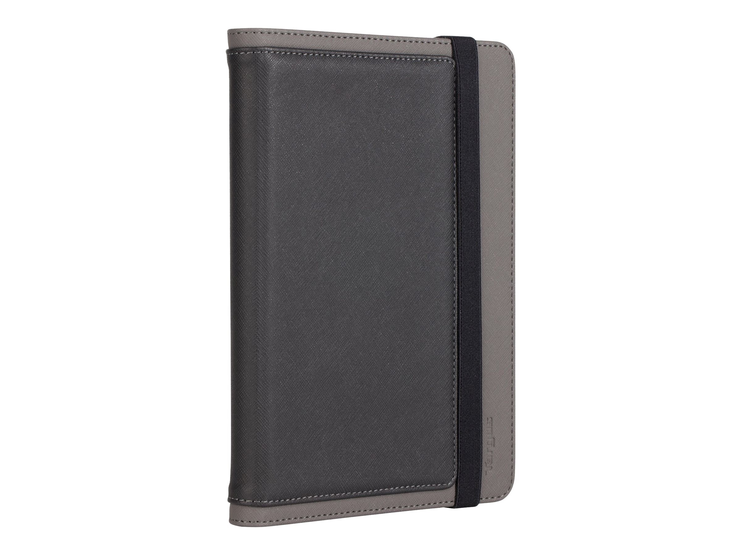 Targus Foliostand for iPad mini, Black Gray Crosshatch