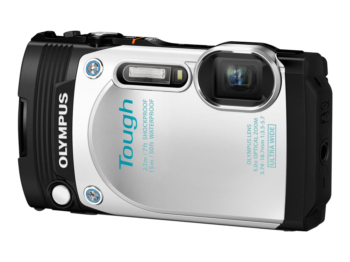 Olympus Stylus Tough TG-870 Digital Camera, White, V104200WU000