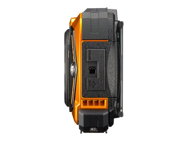 Pentax WG-30W Waterproof Toughcam Kit, 16.1MP, Carbon Orange, 4638, 18463097, Cameras - Digital - Point & Shoot
