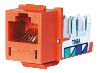 Hubbell SPEEDGAIN Xcelerator category 5E jacks, Orange, 25-pack, HXJ5EOR25, 348063, Premise Wiring Equipment