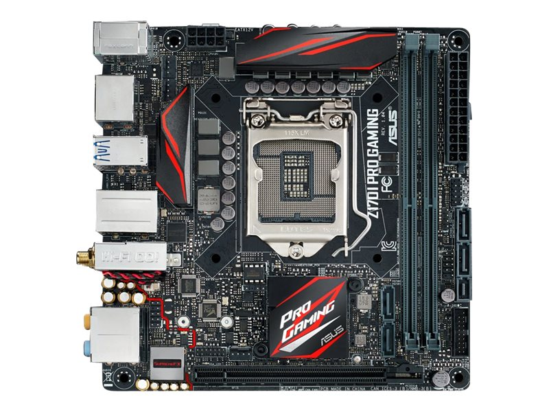 Asus Motherboard, Z170i Pro Gaming Z170 1151 Core i7 i5 i3 Family Max.32GB DDR4 2xSATA PCIe GbE ac BT