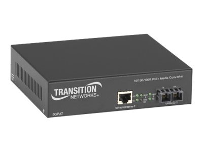Transition Gigabit PoE Media Converter 10 100 1000BT to 1000BSX MM SC, SGPAT1039-100-NA, 14705378, Network Transceivers
