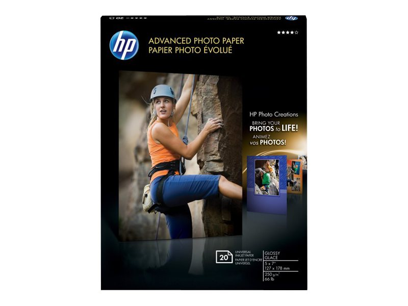 HP 5x 7 Advanced Glossy Photo Paper (20 Sheets), CG812A