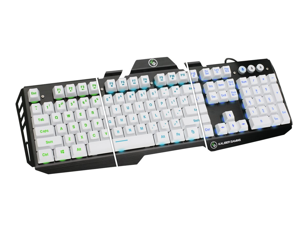 IOGEAR Aluminum Gaming Keyboard, White, GKB704L-WT