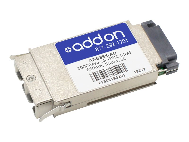 ACP-EP AddOn 1000BASE-SX GBIC 550M For Allied, AT-G8SX-AO