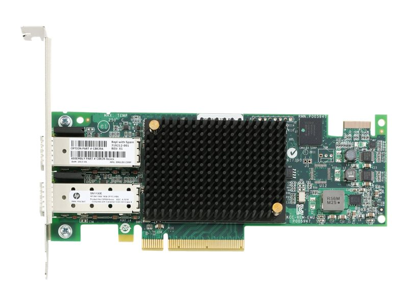 HPE StoreFabric SN1100E 16Gb Dual Port Fibre Channel Host Bus Adapter, C8R39A