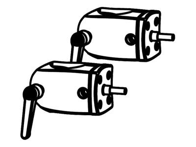 Ergotron DS100 Series Outboard Pole Clamps (Set of 2), Black, 60-443-200, 5463899, Stands & Mounts - AV