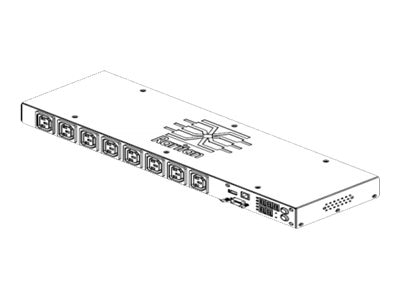 Raritan PDU 3.3kVA 208V 1-phase 16A 1U C20 Inlet (8) C13 Outlets, PX2-1190CR, 16717891, Power Distribution Units