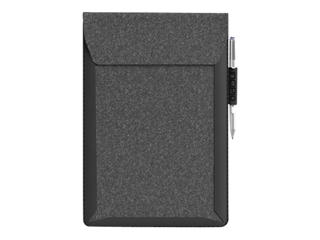 Incipio Underground Sleeve Soft Felt w  Welded Shock Absorbing Frame for 10 11 Devices, Gray Navy, MRSF-084-GYNY