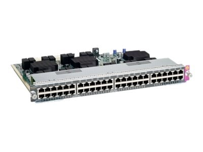 Cisco Catalyst 4500E 48-Port UPoE 10 100 1000 (RJ45) Line Card, WS-X4748-UPOE+E=, 13062876, Network Device Modules & Accessories