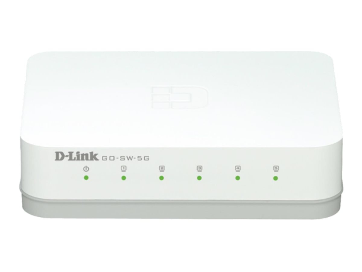 D-Link 5-Port Unmanaged Gigabit Switch, GO-SW-5G