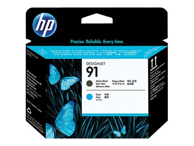 HP 91 Matte Black & Cyan Printhead, C9460A, 7624924, Printer Accessories