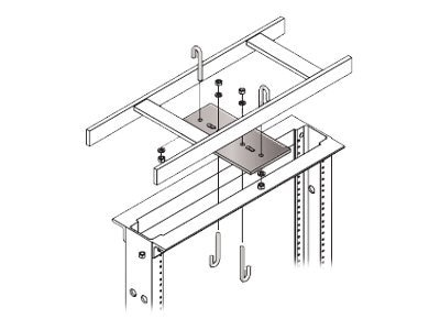 Chatsworth Rack-to-Runway Mounting Plate with J-Bolts, 4w, Gray, 10595-104, 12171886, Rack Cable Management