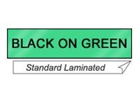 Brother TX7511-1 Black On Green Tape, TX7511, 429535, Paper, Labels & Other Print Media