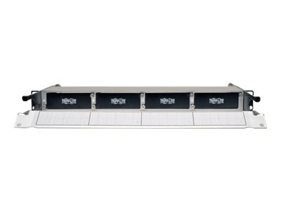 Tripp Lite High Density Copper Fiber Enclosure Panel 4-Cassette Capacity 1U, N484-01U
