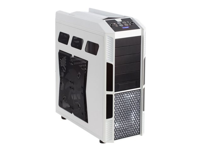Rosewill Chassis, Thor V2-W Full Tower ATX 6x3.5 Bays 5x5.25 Bays 10xSlots 4xFans, White Black, THOR V2-W, 16653701, Cases - Systems/Servers