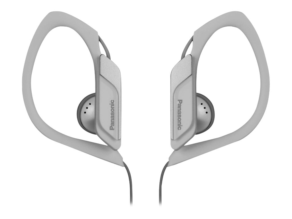 Panasonic HS34 Water Sweat Resistant Sports Clip Earbud - White, RP-HS34-W