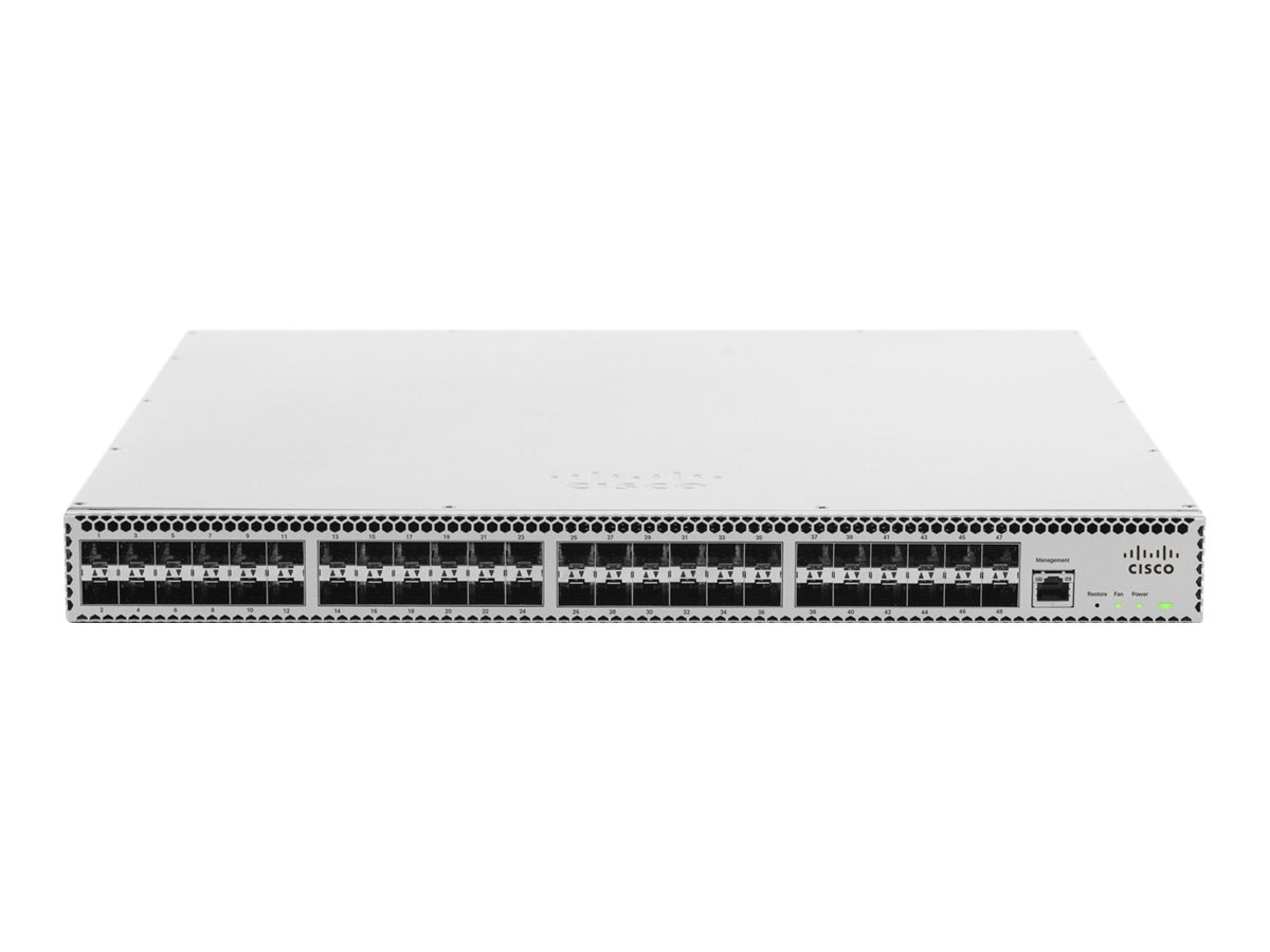 Cisco Meraki Cloud Managed Aggregation Switch 48 Port 10 GbE Aggregation Switch- 100 Available And Ship Direct, MS420-48-HW, 16631608, Network Switches