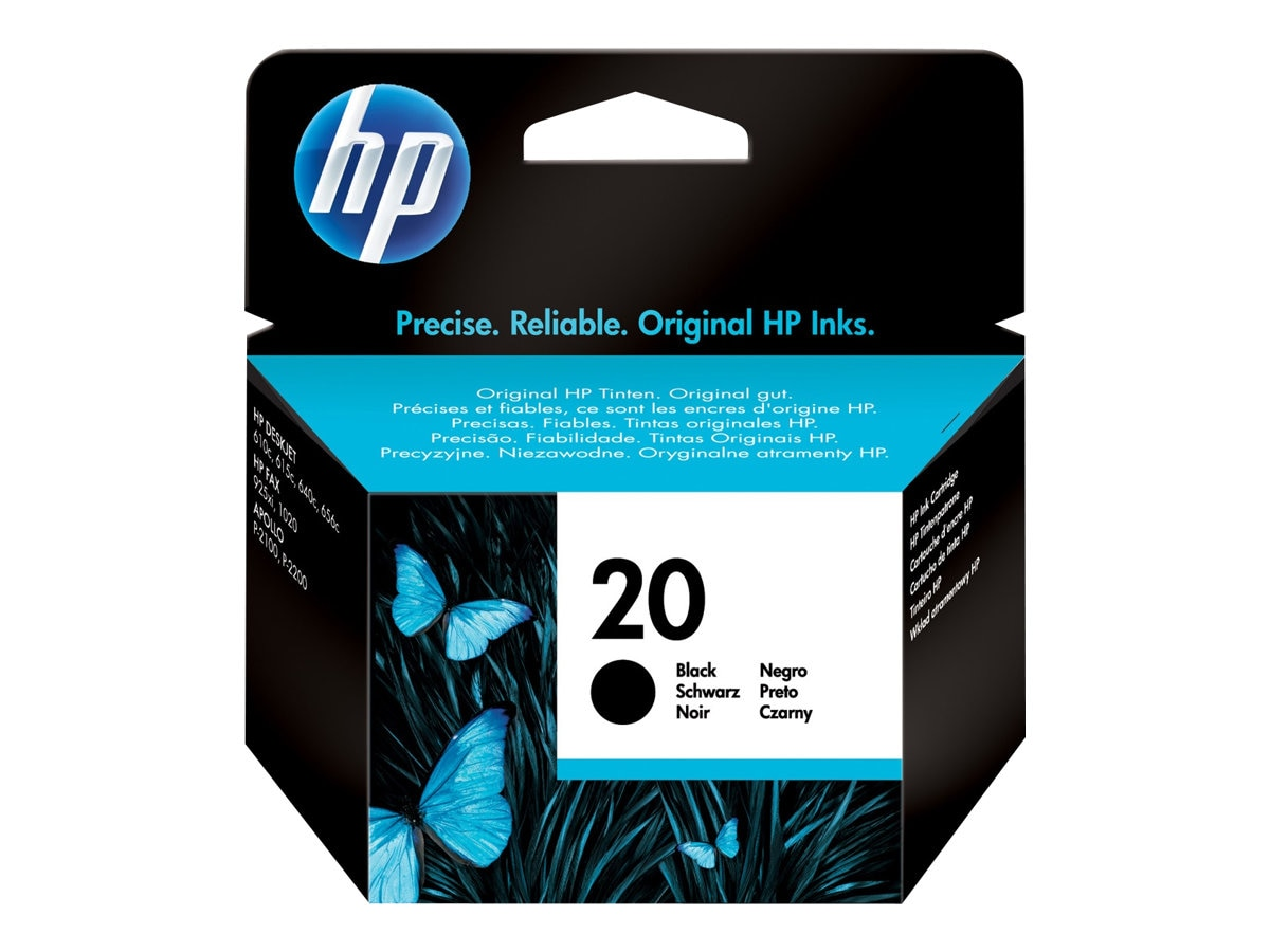 HP 20 (C6614D) Large Black Original Ink Cartridge, C6614D, 170809, Ink Cartridges & Ink Refill Kits