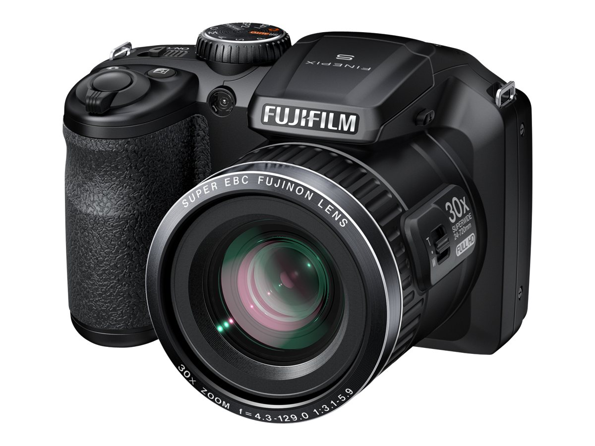 Fujifilm FinePix S6800 Digital Camera, 16MP, 30x Zoom, Black, 16303014, 15302001, Cameras - Digital - Point & Shoot