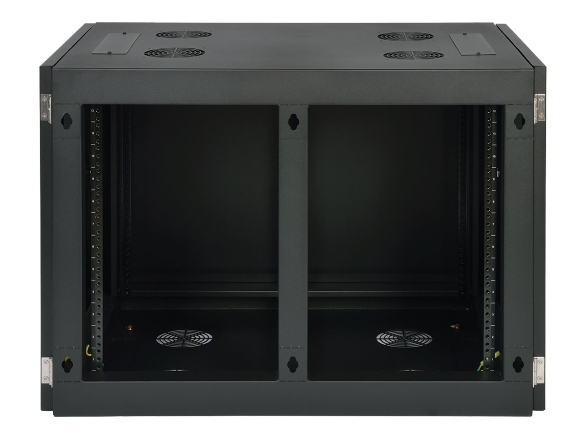 Tripp Lite SmartRack Heavy-Duty Side-Mount Wall-Mount Rack Enclosure Cabinet, SRW12UHD