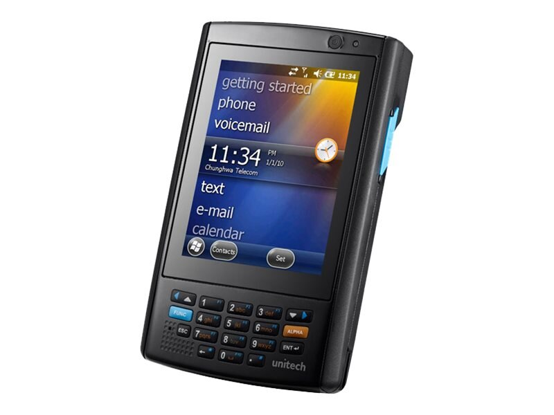 Unitech PA520 Mobile Computer, Laser, WiFi, Bluetooth, Battery, WEH 6.5 Classic, PA520-9S60UMDG