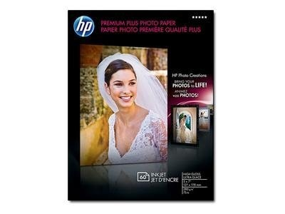 HP 5 x 7 Premium Plus Glossy Photo Paper (60 Sheets)
