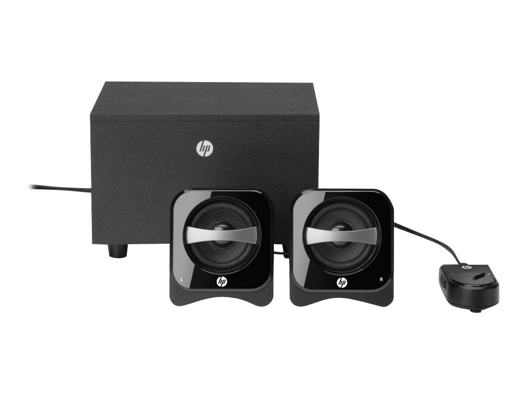 HP 2.1 Compact Speaker System, BR386AA#ABL, 12602287, Speakers - Audio