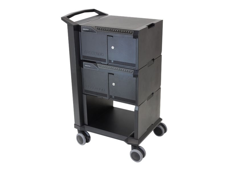 Ergotron Tablet Management Cart 32 with ISI for iPad, 24-328-085, 15265052, Computer Carts