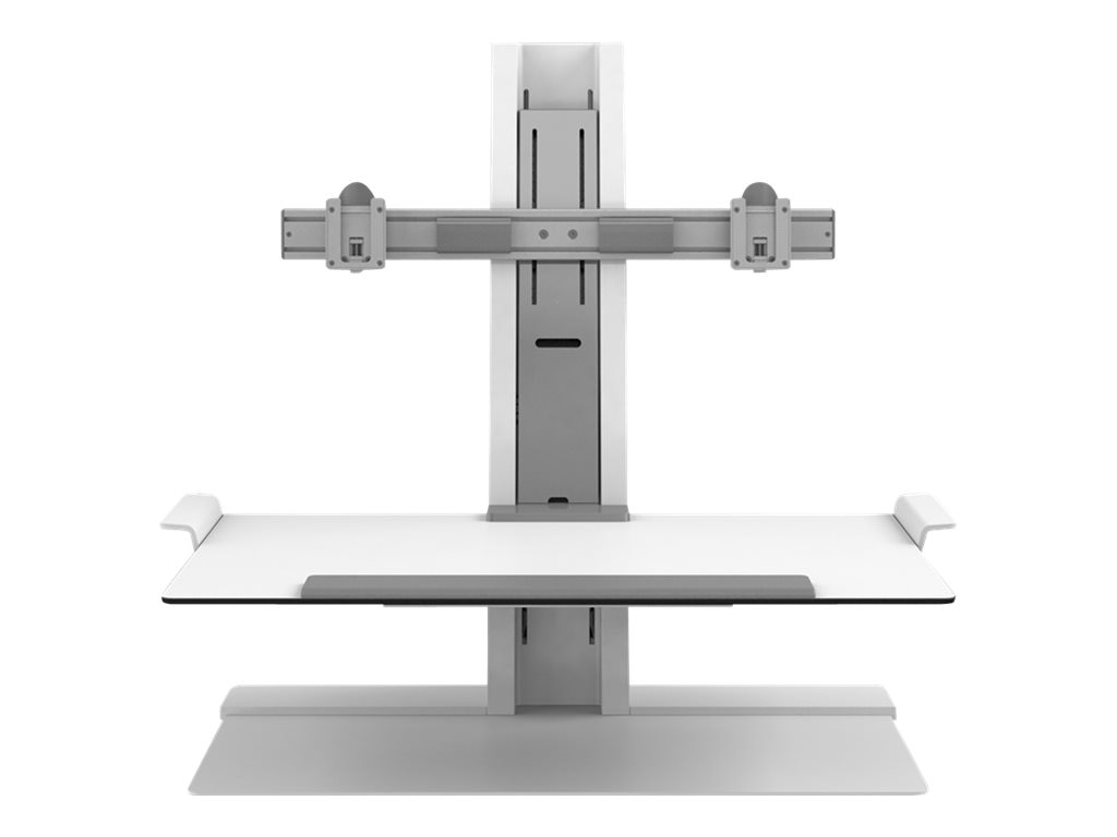 Humanscale QuickStand Dual-Monitor Stand, White