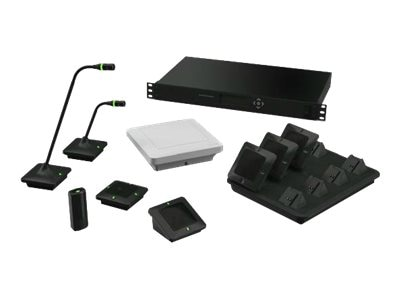 Revolabs Executive Elite 4-Channel System, w   (1) Wearable, (3) Directional Microphones, GSA Compliant, 01-ELITEEXEC4-31GSA, 28020425, Microphones & Accessories