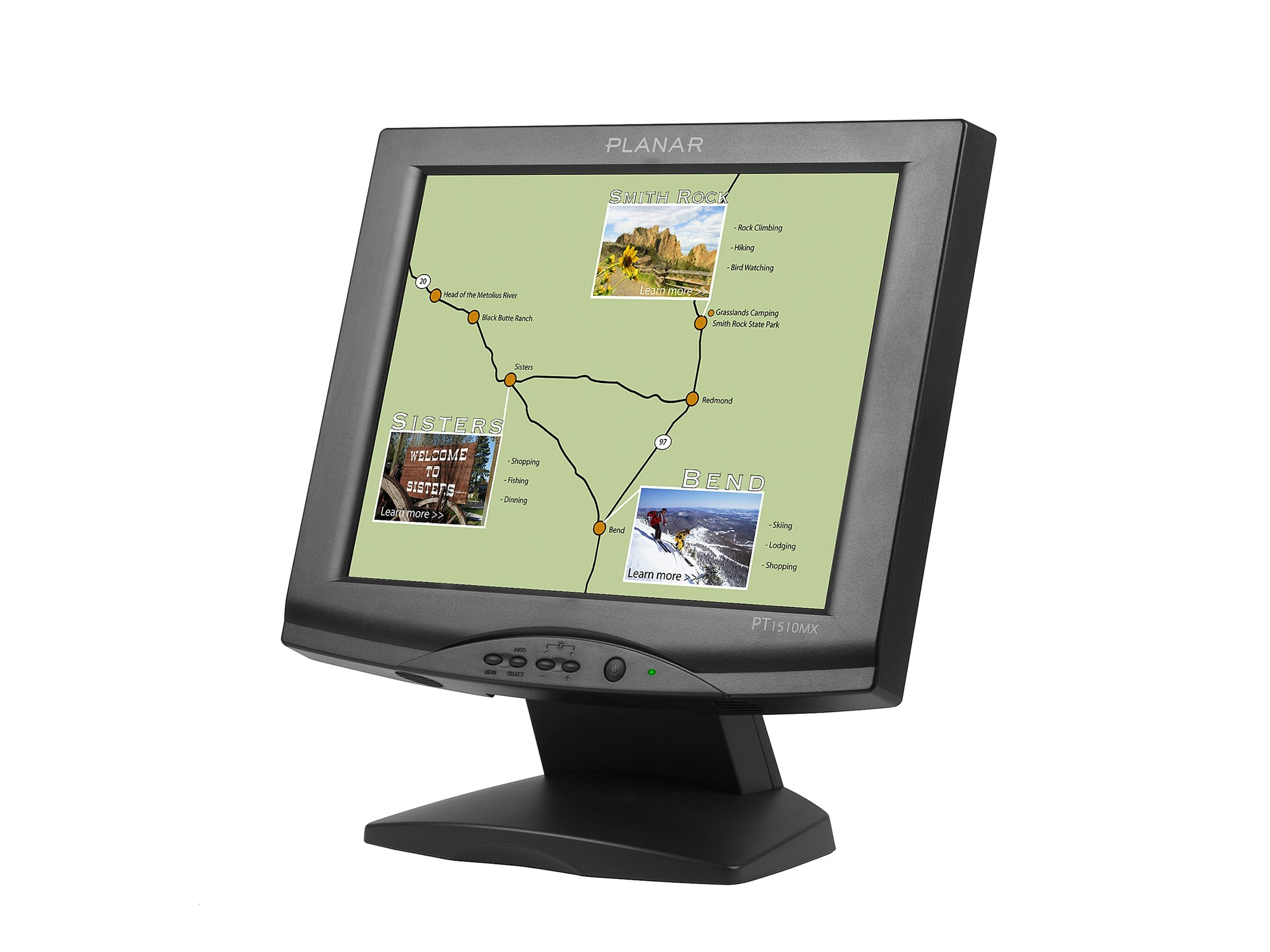 Planar 15 PT1510MX LCD Touchscreen Monitor with Speakers, Black, 997-3198-00, 7457353, Monitors - LCD