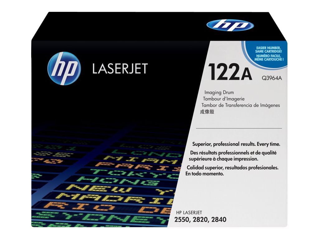 HP 122A Imaging Drum for HP Color LaserJet 2550n Printer & HP 2840 All-In-One, Q3964A