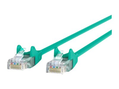 Belkin Cat6 UTP Patch Cable, Green, Snagless, 6ft