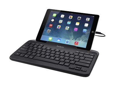 Belkin Wired Tablet Keyboard w  Stand, Lightning Connector for iPad, Black